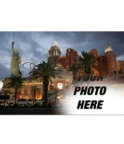 Photomontage to make a collage with New York City in Las Vegas