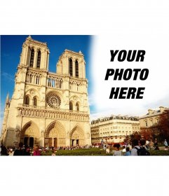 Personalized postcard with a picture of Notre Dame