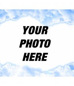 Special photo frame with clouds