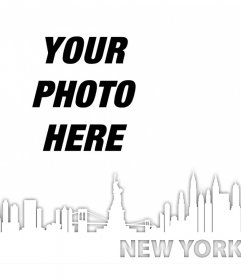 Photo effect to add the New York skyline in your photos