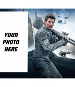 Photomontage with Tom Cruise in the movie Oblibion