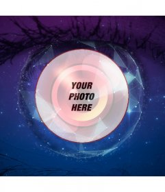 Collage with your picture in the eye of Big Brother
