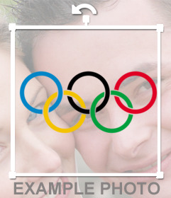 Photo effect of the Olympics logo to paste on your pictures
