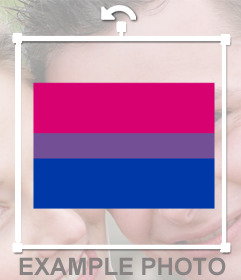 Flag of bisexuality to paste in photos as an online sticker