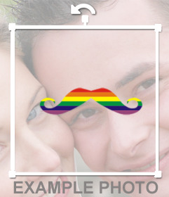 Put a mustache on your photos with the colors of the rainbow with this effect