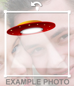 Photomontage of a UFO to put on your picture
