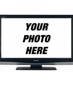 Your illusion of always being on TV? With this curious photomontage, your photo appears on a television screen LCD