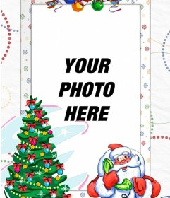 Photo frame with Santa Claus to put your photo with him