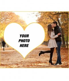 Love photomontage to put your photo with a couple kissing