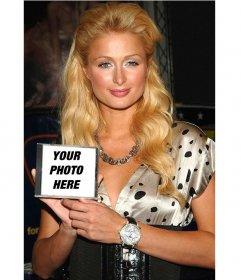 Photomontage to put your photo on a CD that has Paris Hilton