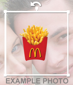 Decorative sticker to paste the McDonalds potatoes on your pictures
