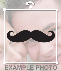 Sticker of a trendy mustache to paste in your photographs
