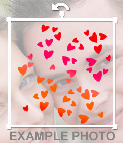 Colorful hearts to paste on your photographs