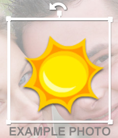 Photomontage in which you can put your photo in a sun like a sticker
