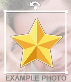 Golden Star-shaped sticker to put on your photographs