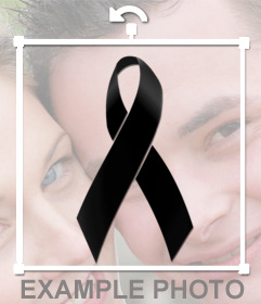 Put a black ribbon on your photos online