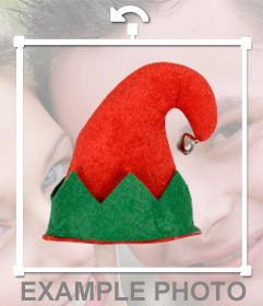 Put an elf hat with a bell on your picture
