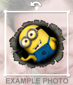 A minion sticker to stick on your photo