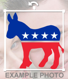 Sticker of the Democratic party logo for your photo