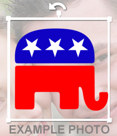 Sticker with the logo of the Republican Party
