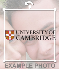 Sticker with the logo of the University of Cambridge