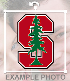 Logo Sticker of the Stanford University to insert into your photos in online form