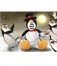 Virtual Penguin costume for children that you can edit free