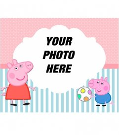 Child picture frame of Peppa Pig