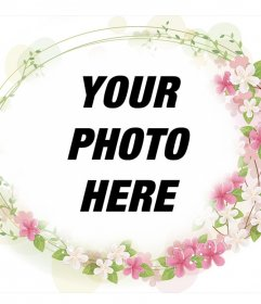 Frame to add to your photos beautiful flowers around it and free