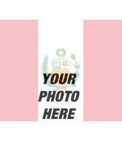 Peru flag, online photomontage