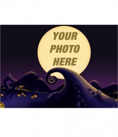 Photo montage from the movie Nightmare Before Christmas