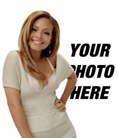 Create a photomontage with R & B singer Christina Milian and appears at his side in a photograph