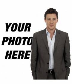 Photomontage with Cory Monteith, actor of the TV series Glee where you will appear next to him in the photo