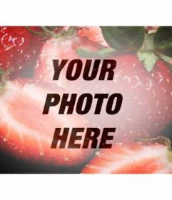 Photographic filter with some strawberries to create a collage with your photos online