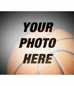 Filter for pictures with a semitransparent basketball to place on your favorite sportive photographs