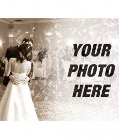 Filter to edit pictures with a wedding at the bridal dance picture in sepia to put your photo