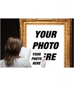 Photo effect in which you appear in a famous painting in a museum