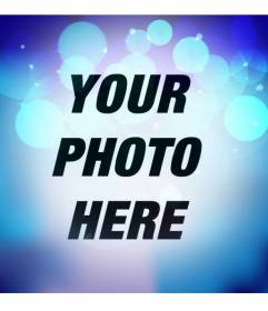 Photo filter with flashing blue lights with bright turquoise circles