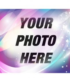 Add a blue dreamy and purple filter with sparkles and stars to your photos and edit them online