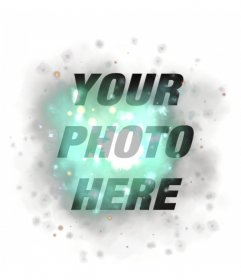 Edit your pictures with a turquoise explosion filter  with bright lights and magic sparkles in a simple and free