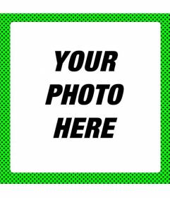 Fluorescent green frame to decorate photos with modern neon look with black spots