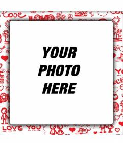 Love photo frame to put the picture with your boyfriend or girlfriend