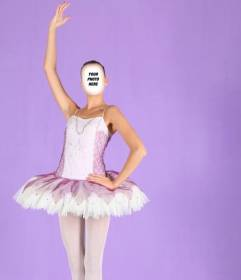 Photomontage to become a ballet dancer online and free