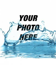 Create a photo collage by adding blue water to your images and enjoy sharing it with friends via whatsapp