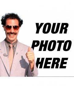 Photomontage of Borat with his * banana hammock * green and sunglasses