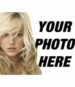 Photomontage with Britney Spears blonde. Now you can have a portrait photo with the American pop singer Britney Spears
