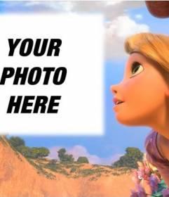 Photomontage with Princess Rapunzel Disney