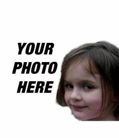 Photomontage with the fire girl, one of the most popular internet memes