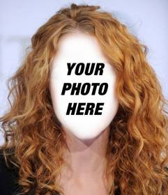 Change your hair to curly haired one with this online photomontage