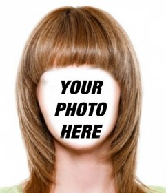 Change your hair to light brown and short with this photomontage to edit